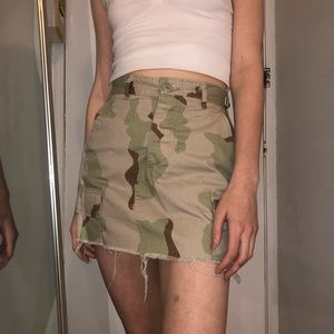 Urban Outfitters Surplus Reworked Camo Skirt
